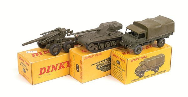 11: French Dinky Tank and Other Military Vehicles