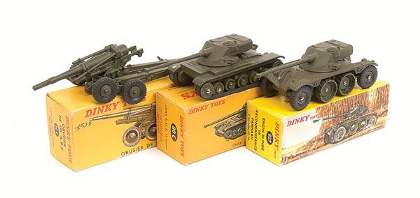 12: French Dinky - A Group of Tanks