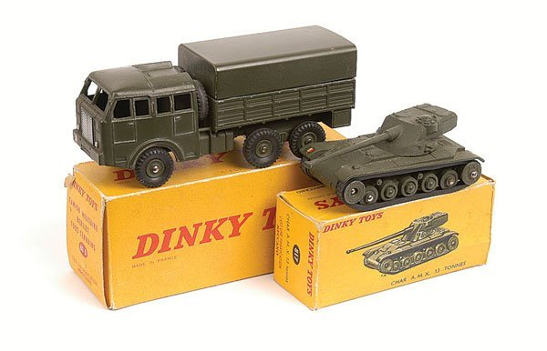 15: French Dinky Military Truck and Tank