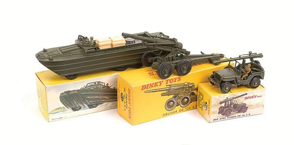 18: French Dinky DUKW and Other Military Vehicles