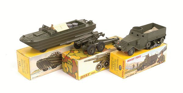 19: French Dinky - A Group of Military Vehicles