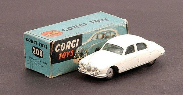1001: Corgi - No.208 Jaguar 2.4 litre Saloon