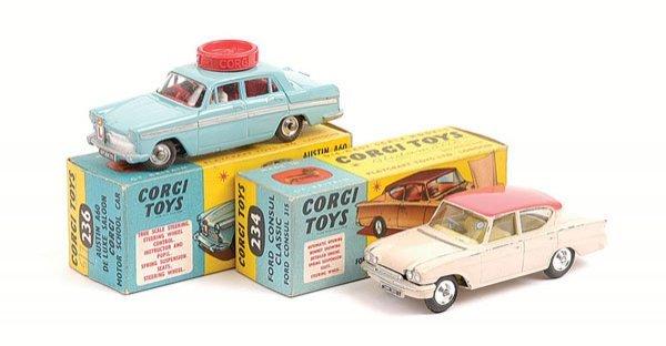 1003: Corgi - No.234 Ford Consul & No.236 Austin A60
