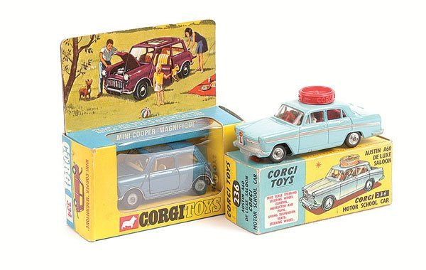 1004: Corgi - No.236 Austin & No.344 Mini Cooper