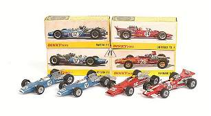1158: French Dinky - A Group of Racing Cars
