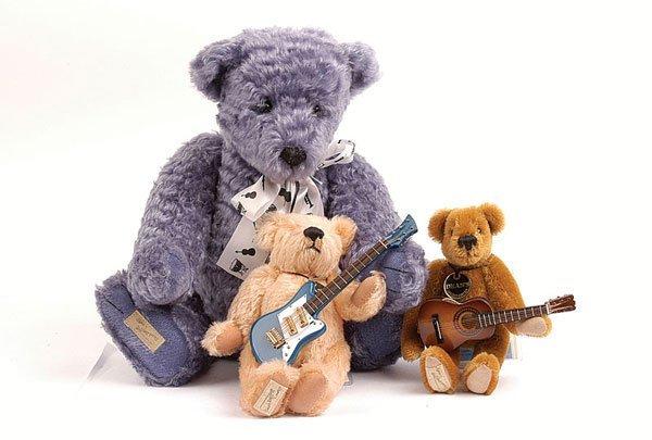 3018: Dean's Rag Book - 3 x Musical Themed Teddy Bears