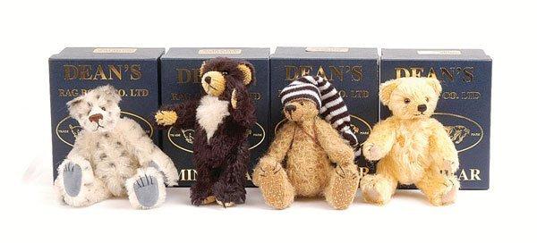 3022: Dean's Rag Book - Four Miniature Teddy Bears