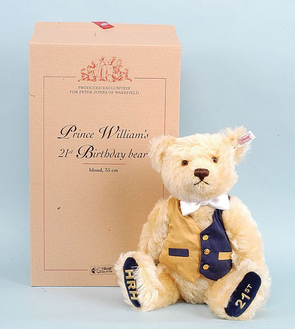 3160: Steiff Prince William's 21st Birthday Bear