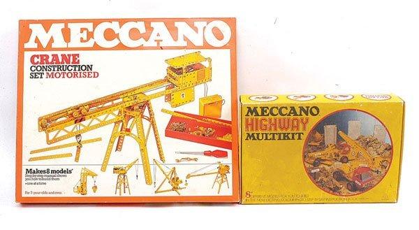 12: Meccano Crane Construction Motorised Set