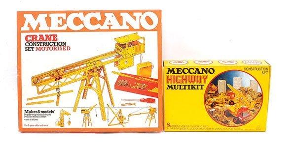 13: Meccano Crane Construction Motorised Set