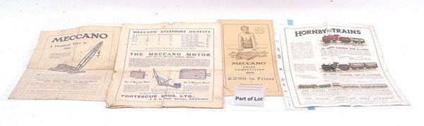 19: Meccano Early Leaflets & Flyers & Others