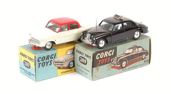 """2002: Corgi No.209 Riley Pathfinder """"Police"""" Car"""