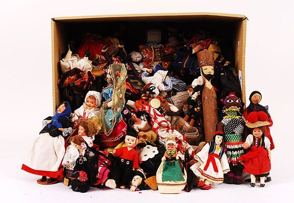3015: A Large Group of Costume Dolls