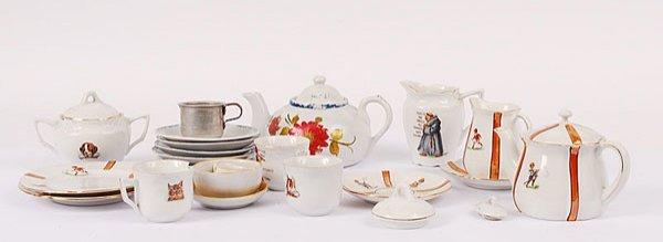 3018: Small Quantity of Child's Tea Service China