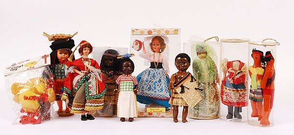 3020: A Group of Costume Dolls