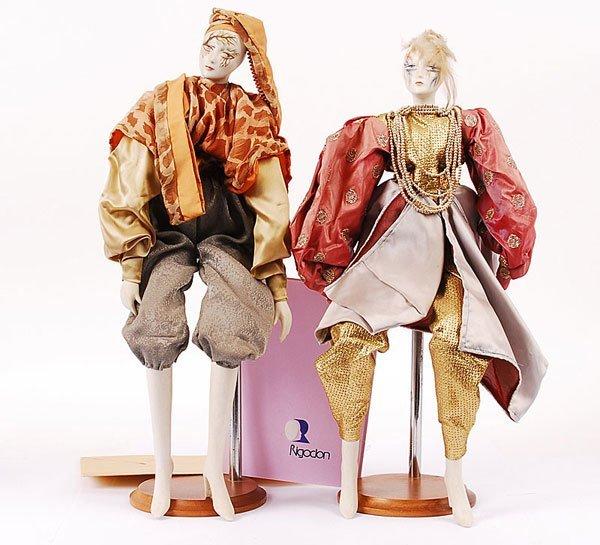 3023: Rigodon - 2 x Modern French Bisque Dolls
