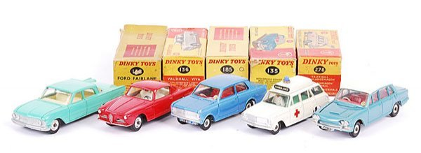 3170: Dinky - A Group of Boxed Cars