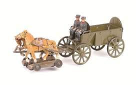 4174 Elastolin LineolWWIFrench Supply Wagon