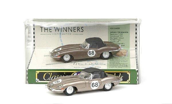 """4018: Corgi Classics pre-pro Jaguar E-type """"Ken Baker"""""""