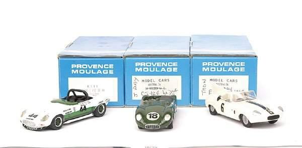 4121: Provence Moulage 3 resin & white metal Jaguars