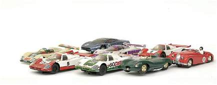 4214: Scalextric - a group of 8 unboxed Jaguars
