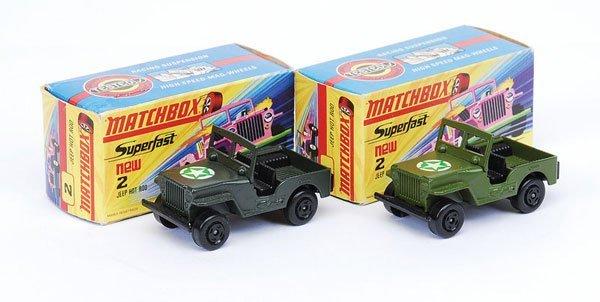 1009: Matchbox Superfast - 2 x No.2 Jeep Hot Rod