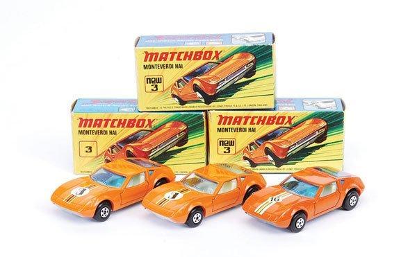 1011: Matchbox Superfast - 3 x No.3 Monteverdi Hai
