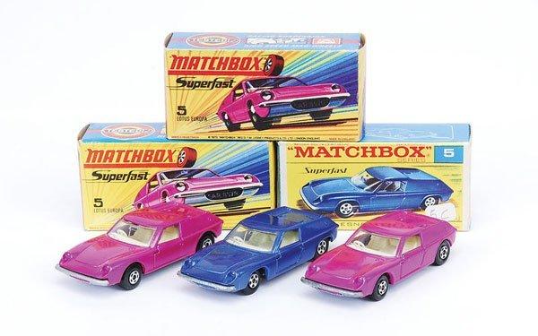 1014: Matchbox Superfast - 3 x No.5 Lotus Europa