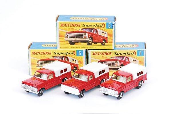1015: Matchbox Superfast - 3 x No.6 Ford Pick-up