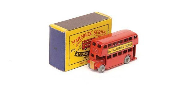 """2023: Matchbox No.5a London Bus """"Buy Matchbox Series"""""""