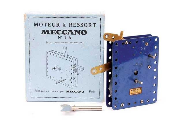 1: French Meccano No.1A Clockwork Motor