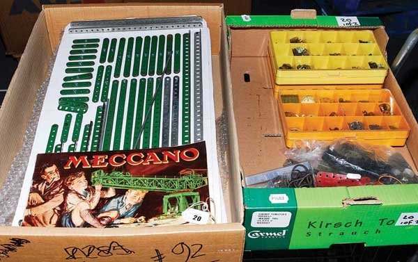 20: Meccano - Red, Green, Blue & Gold Parts