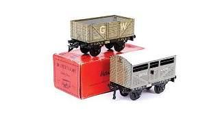 602: Bing O Gauge 4-wheel Goods Wagons