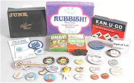 1321 A Group of Card Games Badges  Others