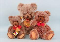 2058: Steiff - 3 x Zotty plus Teddy Bears
