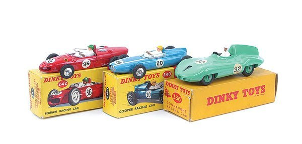 3006: Dinky - A Group of Racing Cars.