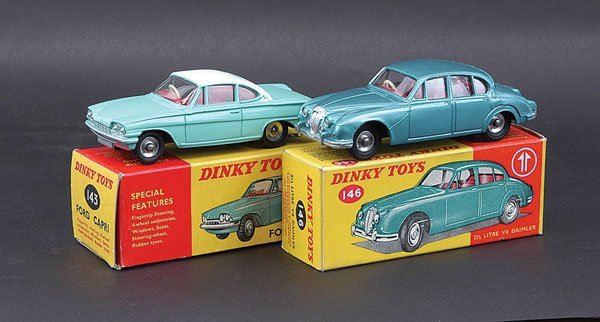 3016: Dinky - A Pair of Daimler and Ford Cars