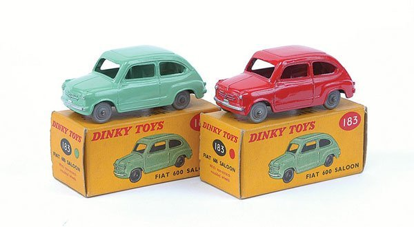 3017: Dinky - A Pair of No.183 Fiat 600 Saloon