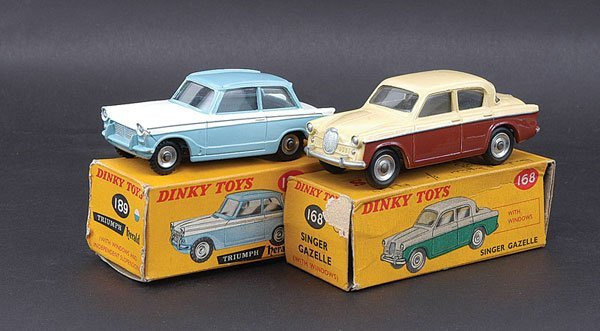 3021: Dinky - A Pair of Singer & Triumph Cars
