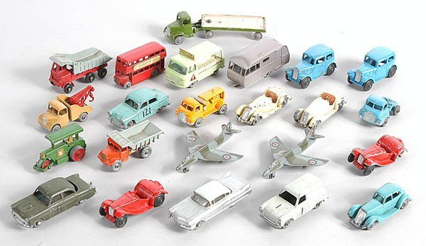 22: Britains, Dinky, Matchbox - Cars and Commercials