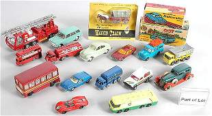 118: A Group of Plastic & Diecast Cars & Commercials