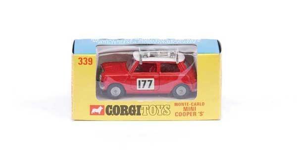"""1010: Corgi No.339 BMC Mini Cooper """"Rally Monte Carlo"""""""