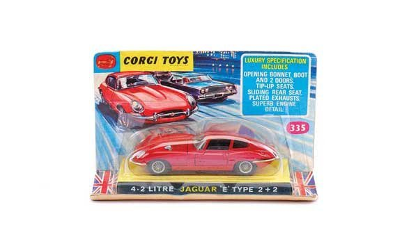 1011: Corgi - No.335 Jaguar 4.2 litre E-type