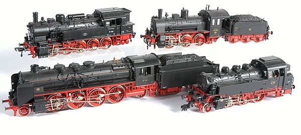 3012: HO Fleischmann - A Group of Steam Locos