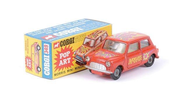 """309: Corgi - No.349 Morris Mini Minor """"Pop Art"""""""
