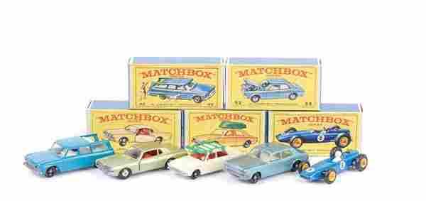 Matchbox Regular Wheels - A Group of 1960s Cars