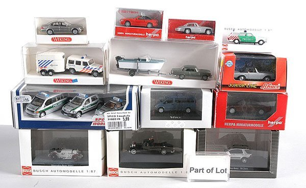 16: Herpa, Schuco, Wiking - 1/87th scale Cars