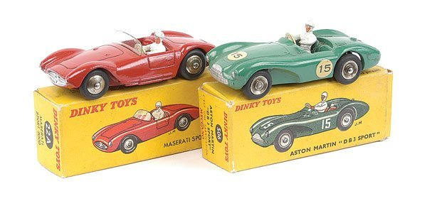 2001: French Dinky Maserati and Aston Martin Cars
