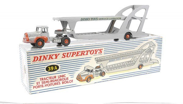 2017: French Dinky No.39A Unic Tractor & Car Trailer