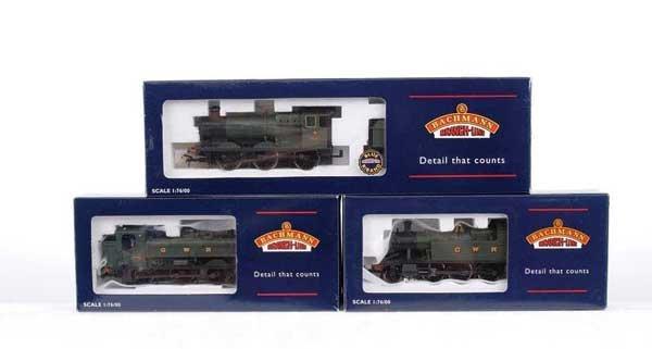 3017: Bachmann - 3 x GWR Green Steam Locos